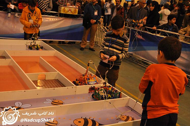 روبات های انباردار دوره دوم ابتدایی نادکاپ شریف