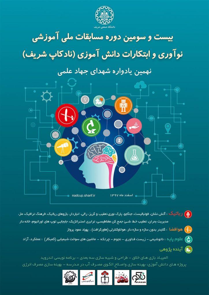 بیست و سومین دوره مسابقات نادکاپ شریف - مسابقات نوآوری و ابتکارات دانش آموزی - بزرگترین مسابقات دانش آموزی کشور